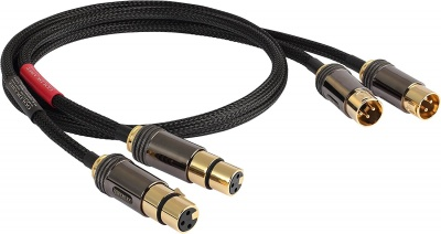 GOLDKABEL XLR EDITION SERIES CHINCH STEREO BLACK EDITION 1.0m